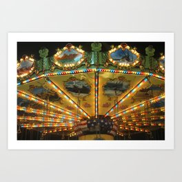 Carousel Ride Art Print