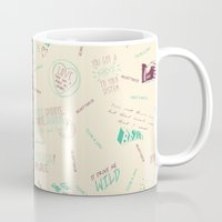 tegan and sara Mugs featuring Doodlethrob (Tegan and Sara) two tone by MR Kent