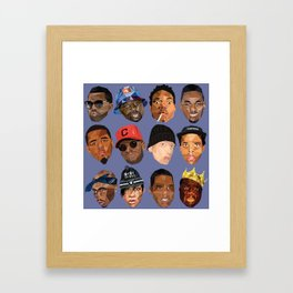 hip hop head Framed Art Print
