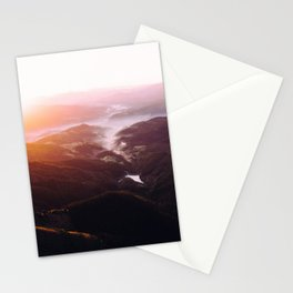Morning Glory Mountain Landscape Stationery Cards