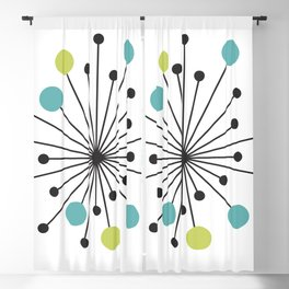Atomic Age Nuclear Motif — Mid Century Modern Blackout Curtain