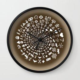 Coffee Lovers Mandala Wall Clock