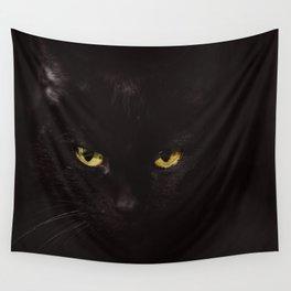 Black Cat Wall Tapestry