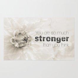 Spring Dahlia II - Be Strong Rug