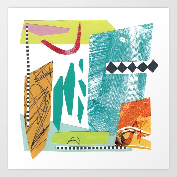 Moving Parts Collage Art Print