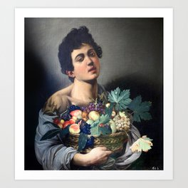 Caravaggio - Boy with a Basket of Fruit Art Print