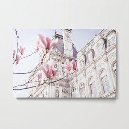 Hotel de Ville in Paris in Spring Metal Print