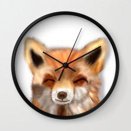 Happy Fox Wall Clock