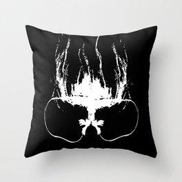 Flaming Specs Throw Pillow
