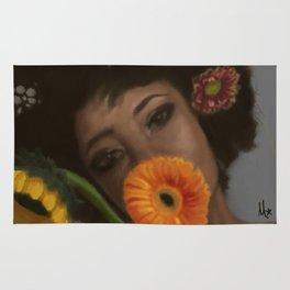 Sunflower Woman Rug