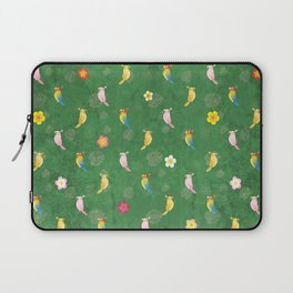 Tiki Birds - Green Pattern Laptop Sleeve
