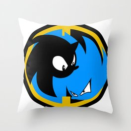 The Wrath of Nazo Emblem Throw Pillow