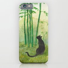 Black Cat in the Bamboo iPhone 6s Slim Case