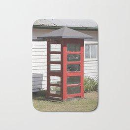 Old Telephone box Bath Mat