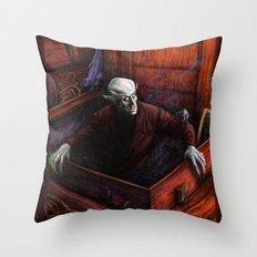 Dracula Nosferatu Vampire King Throw Pillow