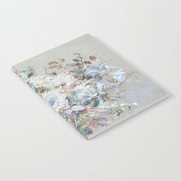 Delicate vintage subtle pastel floral abstract Notebook