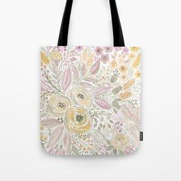 Watercolor . Flower meadow . 1 Tote Bag