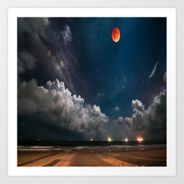 Afternoon sky Art Print