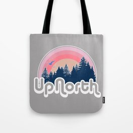 Retro Up North Sunset Tote Bag