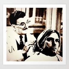 Kurt & Floyd  |  Grunge Collage Art Print
