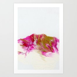 Magenta and Gold #1 Art Print