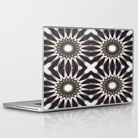 chocolate Laptop & iPad Skins featuring Chocolate Flower Mandala Pattern by 2sweet4words Designs