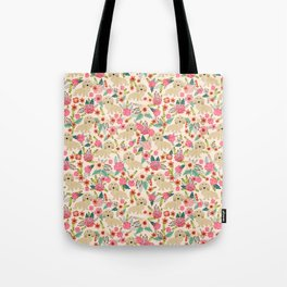 Dachshund longhaired doxie floral dog breed pet gift for dachsie lovers must haves Tote Bag
