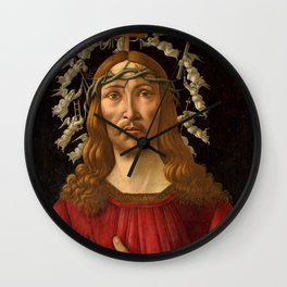 "Botticelli ""Christ as Man of Sorrows with a Halo of Angels"" Wall Clock"