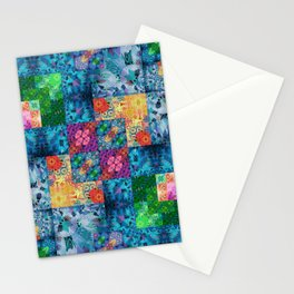 High Definition Geometric Quilt 1 Stationery Cards