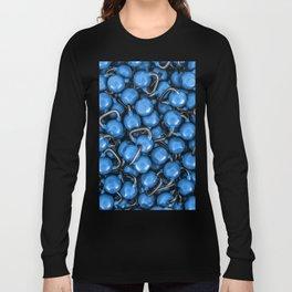 Kettlebells BLUE Long Sleeve T-shirt