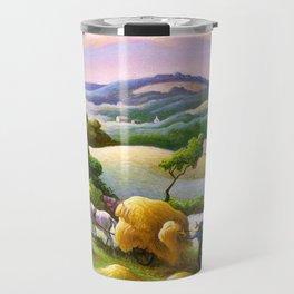 Classical Masterpiece 'Chilmark Hay' by Thomas Hart Benton Travel Mug