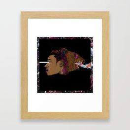 dark side of the room Framed Art Print