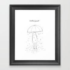 weather forecast Framed Art Print