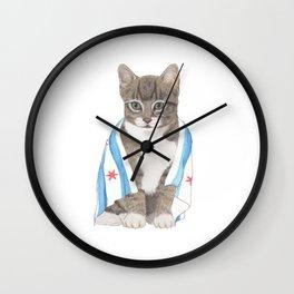 Chicago Cat Artwork & Home Decor Wall Clock