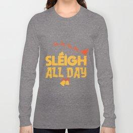 Christmas Sledge Rudolph Reindeer sweet gift Long Sleeve T-shirt