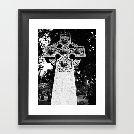 Celtic Grave Framed Art Print