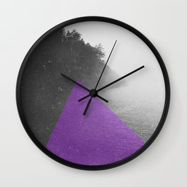 NEON NATURE | Purple Wall Clock