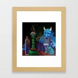 Hookah Demon Framed Art Print