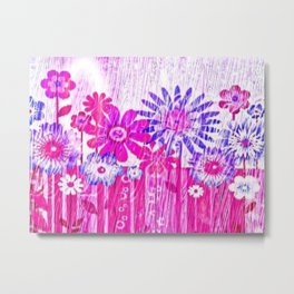 Blossoming Spring Flowers Metal Print