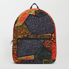 Japanese colorful quilt patchwork Backpack