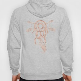 Mandala Rose Gold Pink Dreamcatcher Hoody