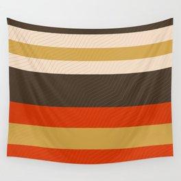 Retro Zigzag Geometric Pattern Wall Tapestry