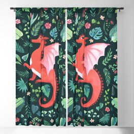 Tropical Dragon Blackout Curtain