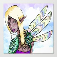 elf Canvas Prints featuring Elf by Flying Cat Artwork