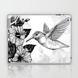 Hibiscus and hummingbird Laptop & iPad Skin