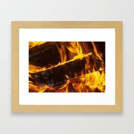 Warming Fire Framed Art Print