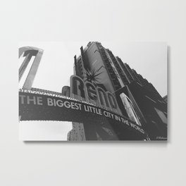 A view of the top Metal Print