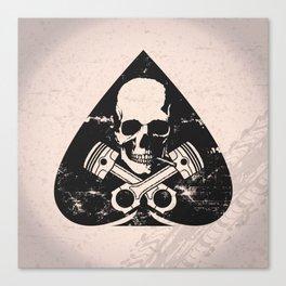 Grunge ace of spades Canvas Print