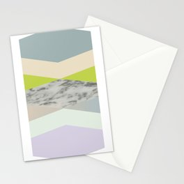 pastel loves marble geometry Stationery Cards