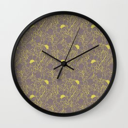 Simply June Yellow Wall Clock